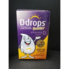 Ddrops Booster Vitamin D3 Liquid 600IU per Drop 儿童成人维生素D3滴剂