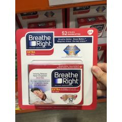 Breathe Right Nasal Strips Extra Tan Pack of 52