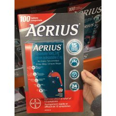 Aerius Non-Drowsy Allergy 24HR 100tablets