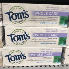Tom's 牙膏 Natural Toothpaste Whole Care Peppermint 85ml