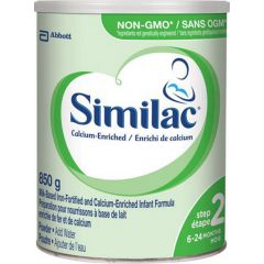 (包邮价) Similac Non-GMO 雅培 高钙铁 二段 奶粉 Iron-Fortified and Calcium-Enriched Step 2 Infant Formula Powder 850g