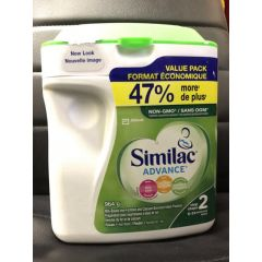 (包邮价) Similac Advance Non-GMO 雅培 奶粉 2段加量装 6-24months 47%+ Step2 964g