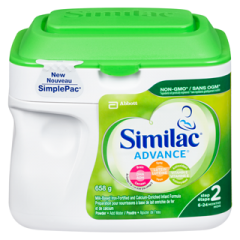 (包邮价) Similac Advance Non-GMO 雅培 2段 奶粉 Step 2 Omega-3 and Omega-6 Infant Formula Powder 658g