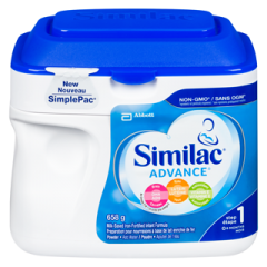 (包邮价) Similac 雅培 一段 奶粉 Advance Non-GMO Step 1 Omega-3 and Omega-6 Infant Formula Powder 658g