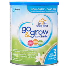 (包邮价) Go & Grow by Similac® NON-GMO 香草味 雅培 三段非转基因 奶粉 Step 3 Milk Powder Vanilla 850g
