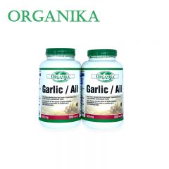 (两瓶包邮价) Organika 大蒜素 200粒 Garlic/ Ali 500mg 200 capsules