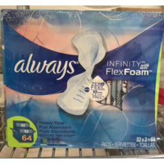 Always Infinity Flex Foam 64pads 卫生巾